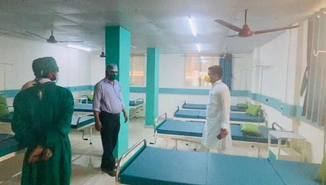 कोरोना लढ्यात महापालिकेच्या मदतीसाठी नगरसेवकाने १०० बेड्सचे हॉस्पिटल केले तयार