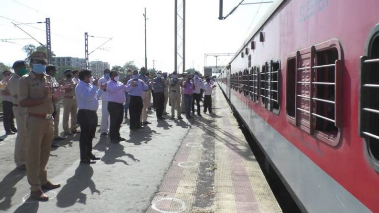 भिवंडीतून बाराशे परप्रांतीय कामगारांना घेऊन श्रमिक ट्रेन बिहारकडे रवाना