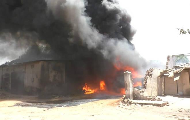 भिवंडीतील राहनाळ येथील केमिकल गोदामाला भीषण आग