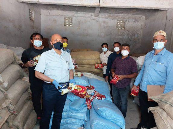 गोदामात साठवलेला ८४ लाख रुपयांचा अवैध गुटखा, तंबाखूजन्य पदार्थाचा साठा जप्त –अन्न व औषध प्रशासनाची कारवाई