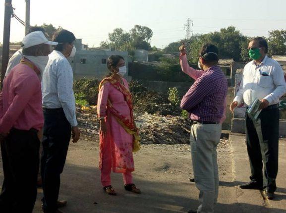 नाले सफाई, कोपर ब्रीज, वडवली उड्डाणपुलाच्या कामाचा आयुक्त डॉ.विजय सुर्यवंशी यांनी केला पाहणी दौरा