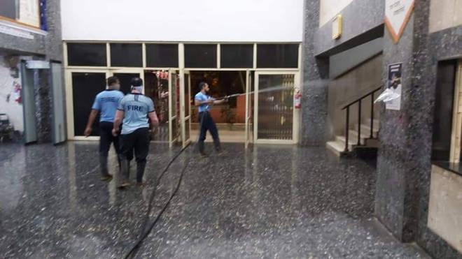 आरोग्य विभागात कोरोनाच्या शिरकावानंतर कल्याण डोंबिवली महापालिकेत खबरदारी – मुख्यालयातील इमारतींचे केले निर्जंतुकीकरण