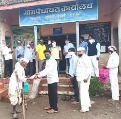 ५१ अपंगांना ५ टक्के निधीतून प्रत्येकी १ हजार रुपये ; कवठे येमाई ग्रामपंचायतीचा अपंगांना दिलासा