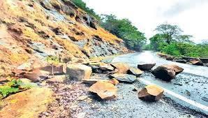 जिल्ह्यातील  २३ गावांमध्ये दरडी कोसळण्याचा धोका
