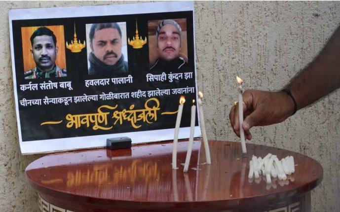 गलवान व्हॅलीमध्ये शहीद झालेल्या सैनिकांना मुंबईत श्रद्धांजली अर्पण