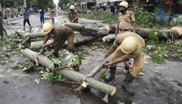 श्रीवर्धनमधील गटारातला कचरा व लाकडाचे ओंडके उचलले न गेल्यामुळे पाणी तुंबण्याचे प्रकार