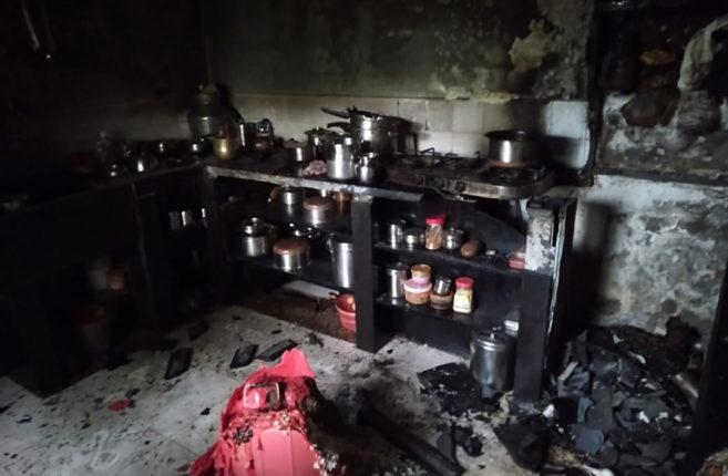 डोंबिवलीमध्ये घरगुती सिलिंडर लिक झाल्याने उडाला आगीचा भडका