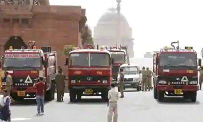 संसद भवनात आग, अग्निशमन दलाच्या ७ गाड्या घटनास्थळी दाखल