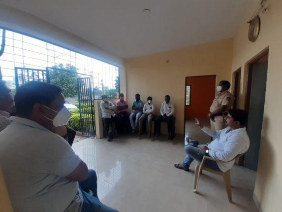 कुरकुंभ परिसरात 'एक गाव एक गणपती' मंडळाची स्थापना