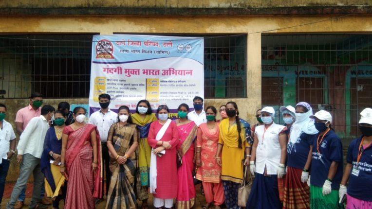 खडवली बेहेरे ग्रामपंचायतीमध्ये गंदगी मुक्त भारत अभियानास सुरुवात