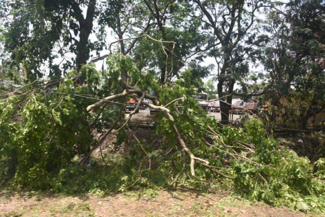 श्रीवर्धन तालुक्यातील भोस्ते येथील प्रभू विश्वकर्मा मंदिरांचे निसर्ग चक्रीवादळात मोठ्या प्रमाणात नुकसान
