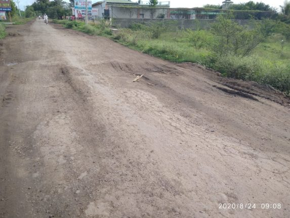 खामगांव फाटा ते गाडीमोड रस्ता बनला धोकादायक