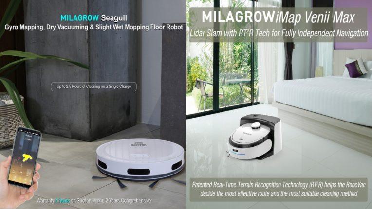 मिलाग्रोचे ३ नवे फ्लोअर्स रोबोट्स लाँच