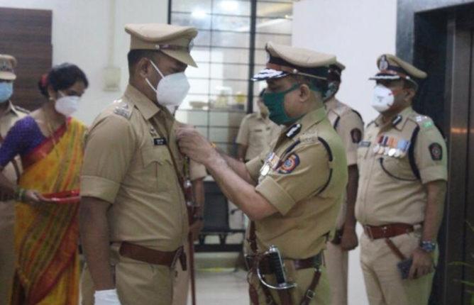 भिवंडीचे पोलीस उपायुक्त राजकुमार शिंदे यांचा आंतरिक सुरक्षा पदकाने सन्मान