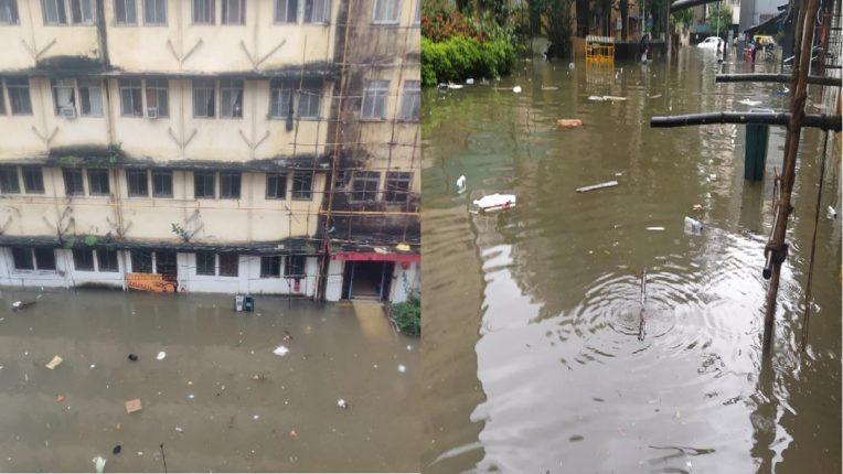 waterlogging in nair hospital