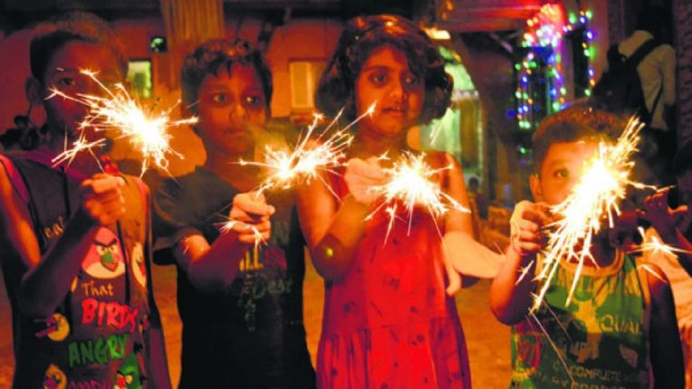 corona with diwali