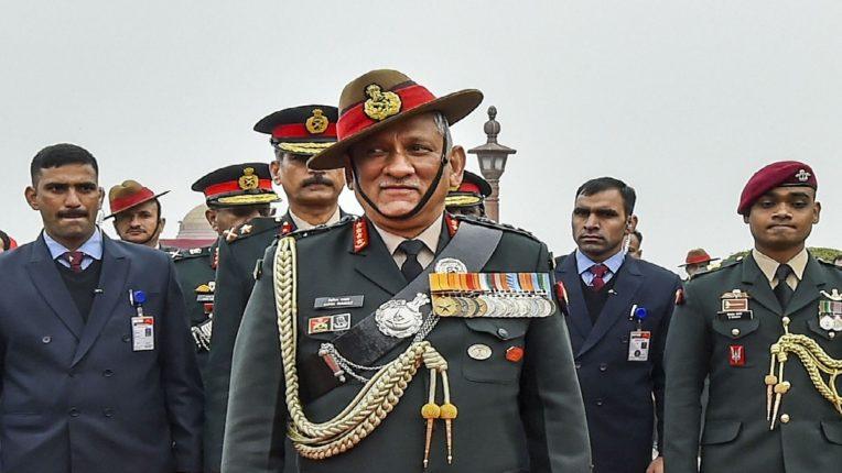 भारत-चीन तणाव प्रकरणी तीन्ही सैन्यदलांना तयार राहण्याचे आदेश : साडीएस बिपीन रावत