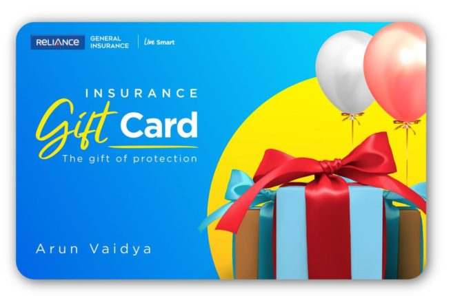 Reliance General Insurance Introduces Insurance Gift Card