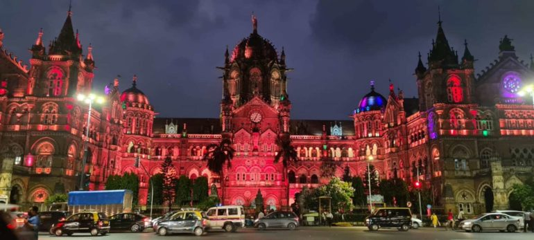 Electrical lighting on two heritage buildings in Mumbai on the occasion of International Child Cancer Awareness Month