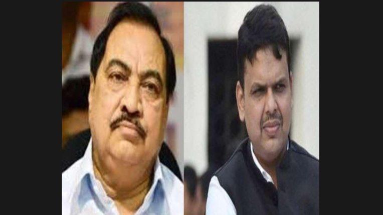 bjp devendra fadanvis on eknath khadse allegations