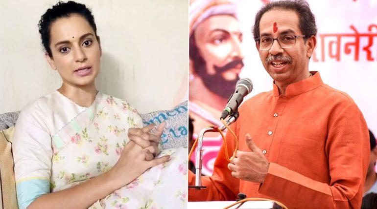 kangna and uddhav thakre