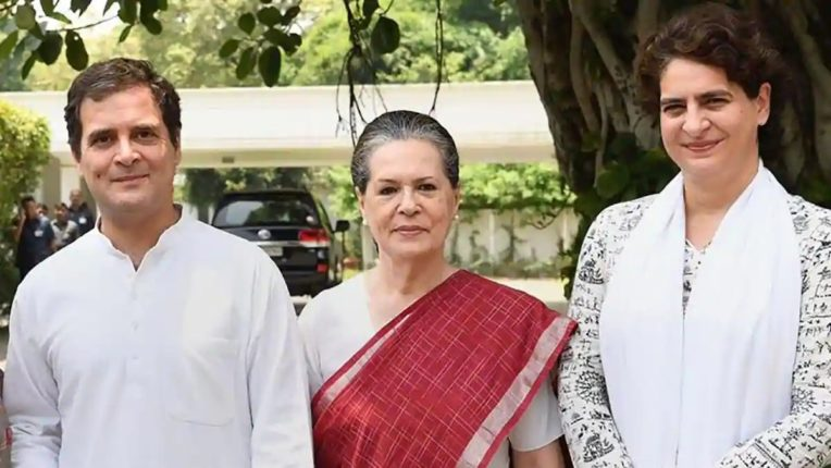 Major reshuffle in Congress For the first time three members of the Gandhi family were involved