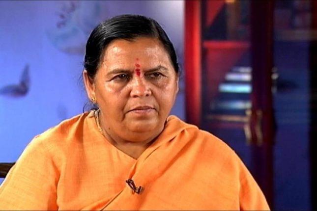 bjp leader uma bharti tests covid positive