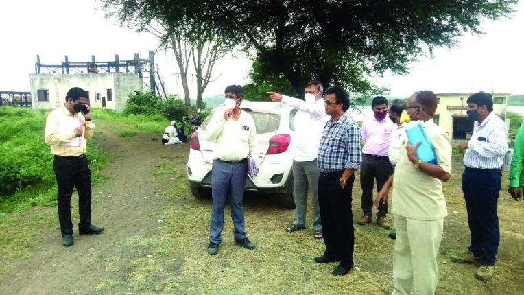 दैनिक 'नवराष्ट्र'इम्पॅक्ट : लासलगांवच्या सोळा गाव पाणी पुरवठा योजनेची महाराष्ट्र जीवन प्राधिकरण अधिकाऱ्याकडून पाहणी
