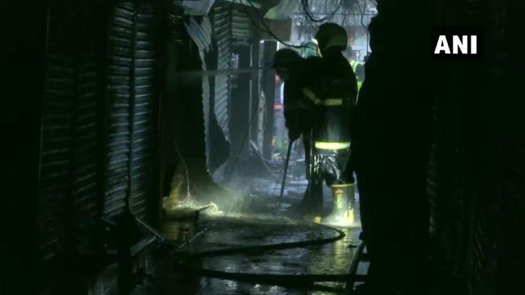 mumbai fire broke out near chembur railway station janta xerox market