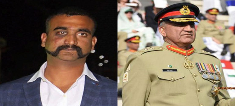 General Bajwas legs were shaking sweat was also breaking Abhinandan to the release of the Pakistani leader in Parliament