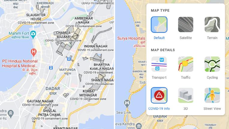 mumbai containment zone on google map