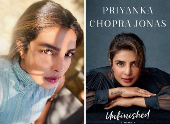 priyanka chopra with a book