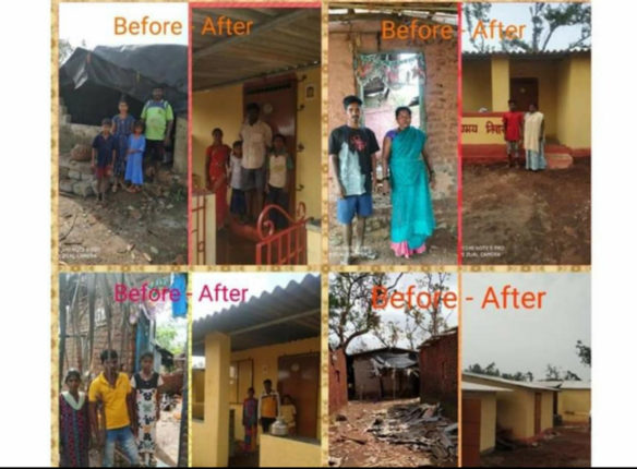 shreewardhan cyclone affected homes