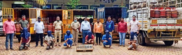 गॅसची चोरी करणारी टोळी पोलिसांच्या जाळ्यात