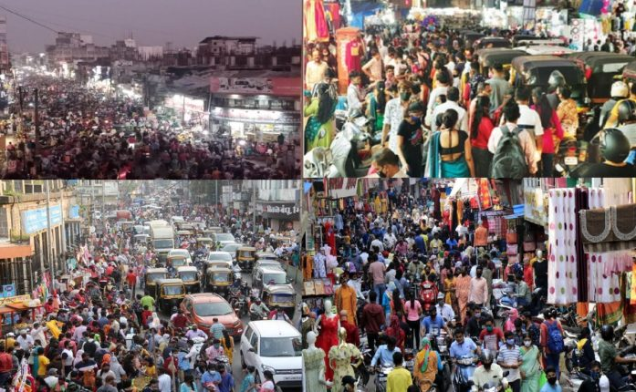 diwali shopping crowded