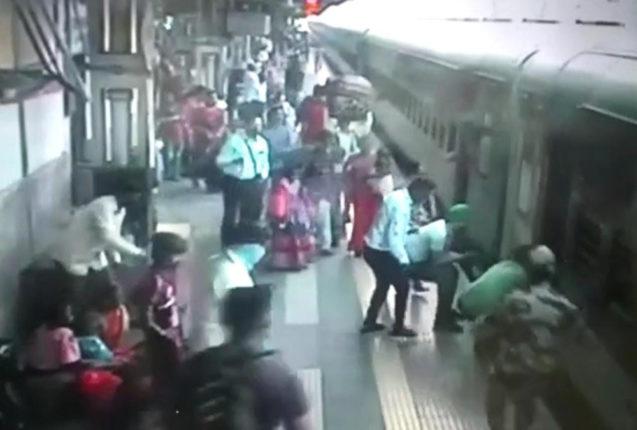 kalyan railway station tourist life saved
