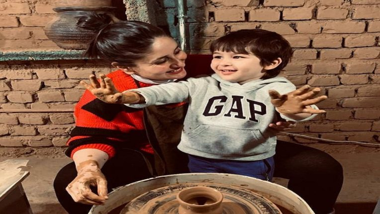 Kareena Taimur teaches pottery; Watch the cute video of Kareena-Taimur