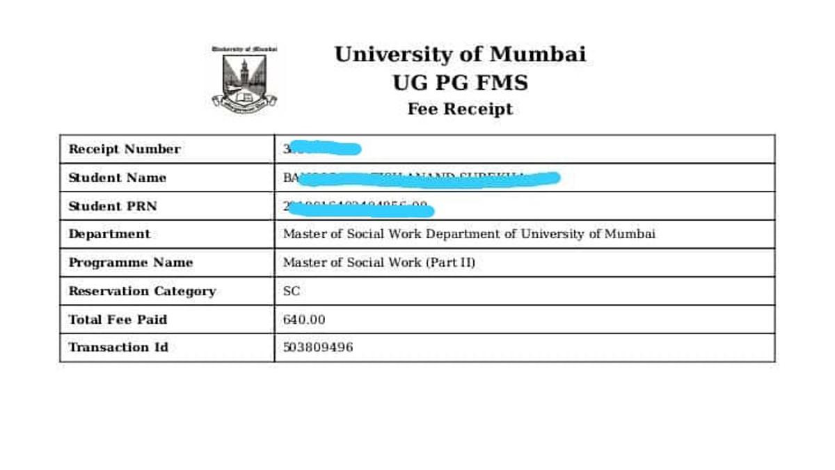 mumbai university fees