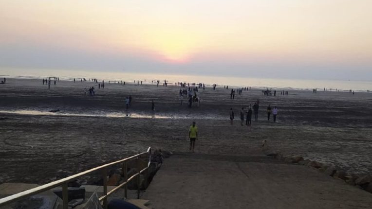 The beaches in the Konkan are crowded with tourists; After eight months, we got to see the crowd