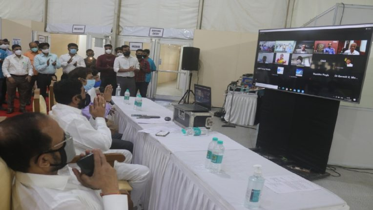 E-Dedication of Covid Health Center in Thane by Chief Minister Uddhav Thackeray, State-of-the-art Covid Center with 306 beds