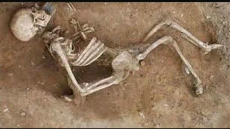 The father lodged a complaint that his son was missing. The skeleton of the boy was found at home during the investigation