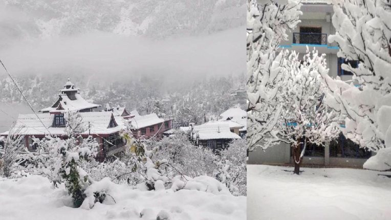 Extreme cold from Shimla in 4 districts of Haryana, white sheet spread over Himachal mountains