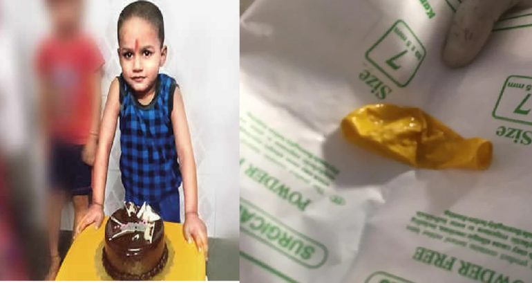 Child dies after balloon gets stuck
