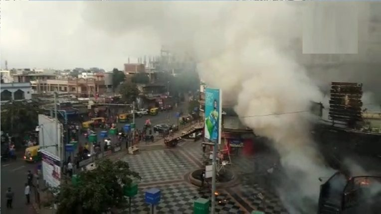 Fire rages in commercial complex in Ahmedabad