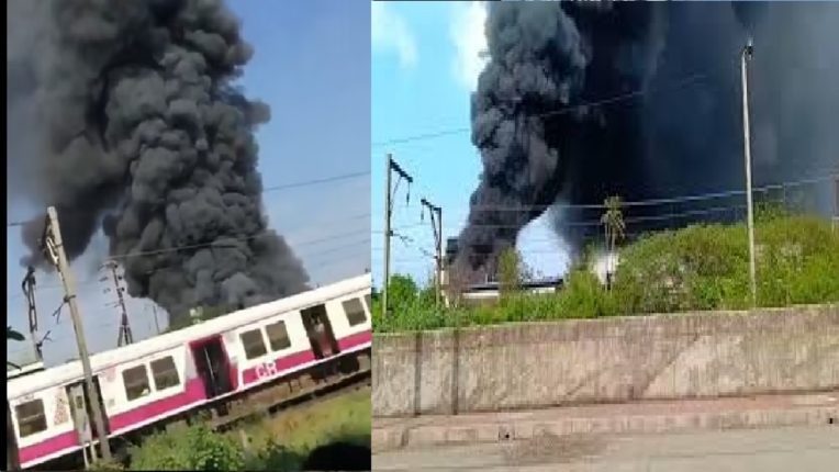 A fire breaks out at a chemical company in Ambernath