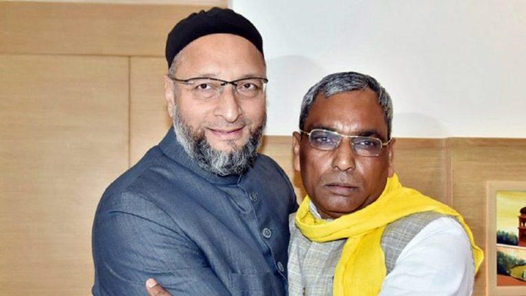 Meeting between Asaduddin Owaisi and Suheldev Bharatiya Samaj Party President Omprakash Rajbhar Criticism of Minister Mohsin Raza