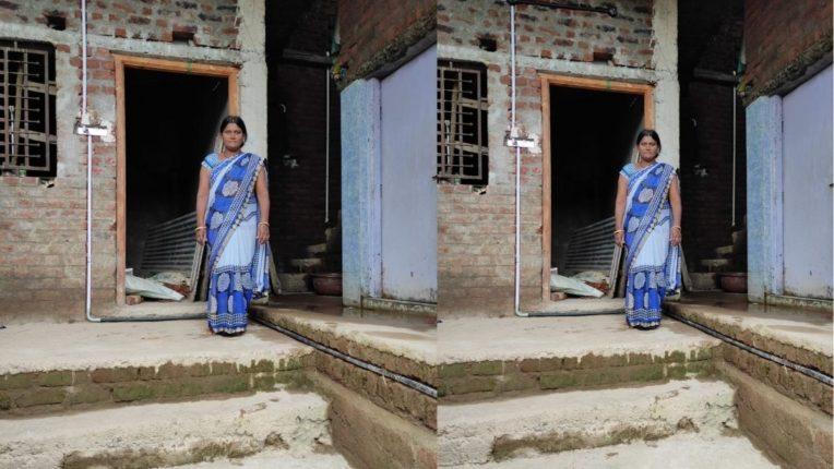 रमाई घरकुल योजनेअंतर्गत बांधण्यात आलेले घर