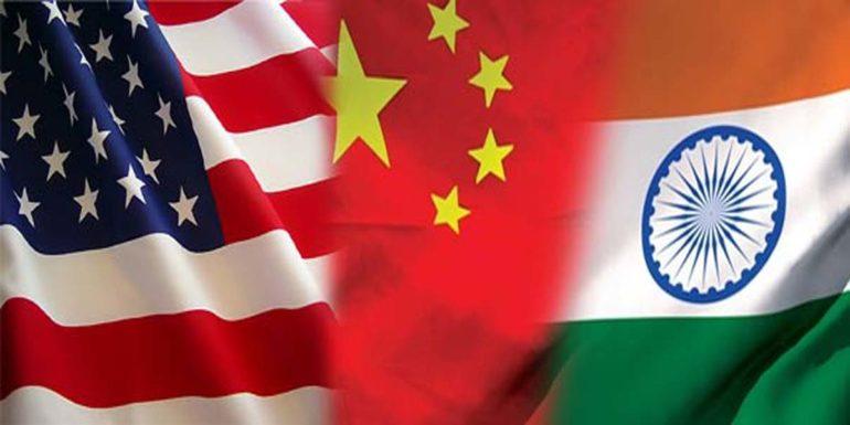 India china and america