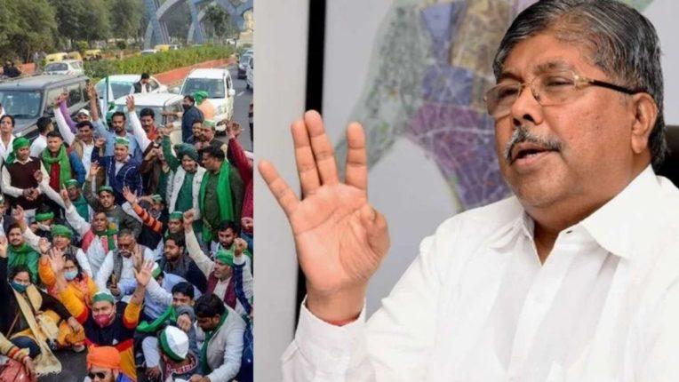 शेतकरी आंदोलन आणि भाजपचे महाराष्ट्र राज्य प्रदेशाध्यक्ष चंद्रकांत पाटील