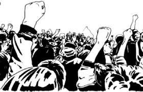 पाटोद्यात प्रहारच्यावतीने तिरडी आंदोलन ; भारत बंदला पाठींबा